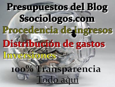 presupuestos blog ssociologos procedencia ingresos distribución de gastos inversiones