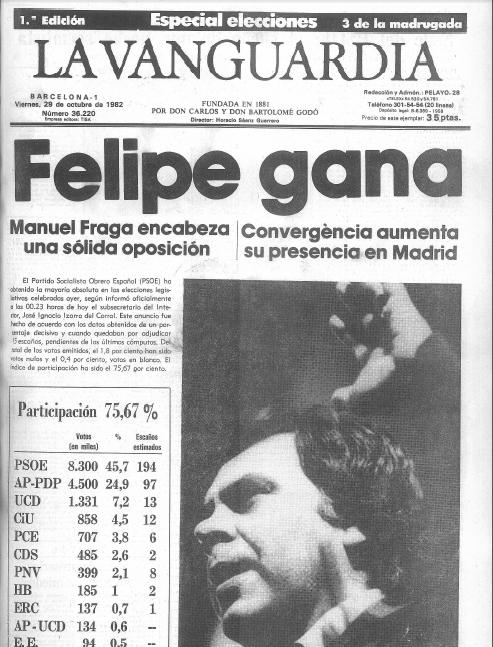 la vanguardia viernes 20 octubre 1982