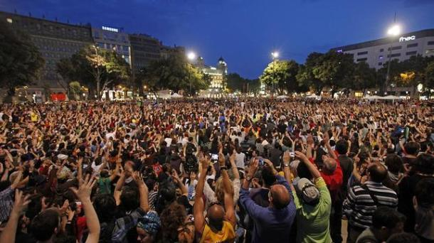 15m barcelona 644x362 Del cortijo de Rajoy a la masía de Mas: las mismas políticas con diferentes rostros